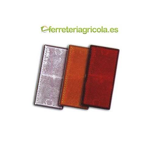 2 CATADIOPTRICOS SEÑALIZACIÓN PERFORADOS 105X48mm