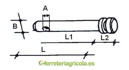 BULON TERCER PUNTO REBORDE 173mm