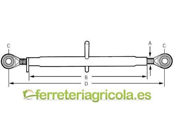 TERCER PUNTO MANUAL CAT 2/2 580-810mm ROTULAS
