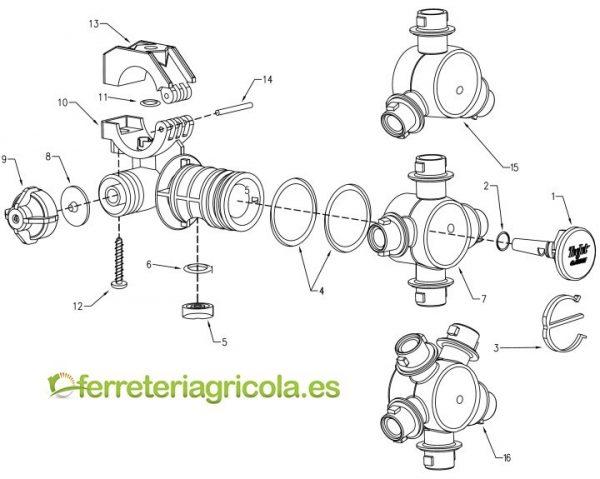 PORTABOQUILLAS ANTIGOTEO 5 CHORROS PENTAJET TEEJET QJ360-D20mm-10