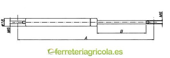 RESORTE A GAS 610mm