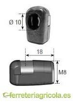 ANCLAJE ROTULA PLASTICO M8 RESORTE A GAS