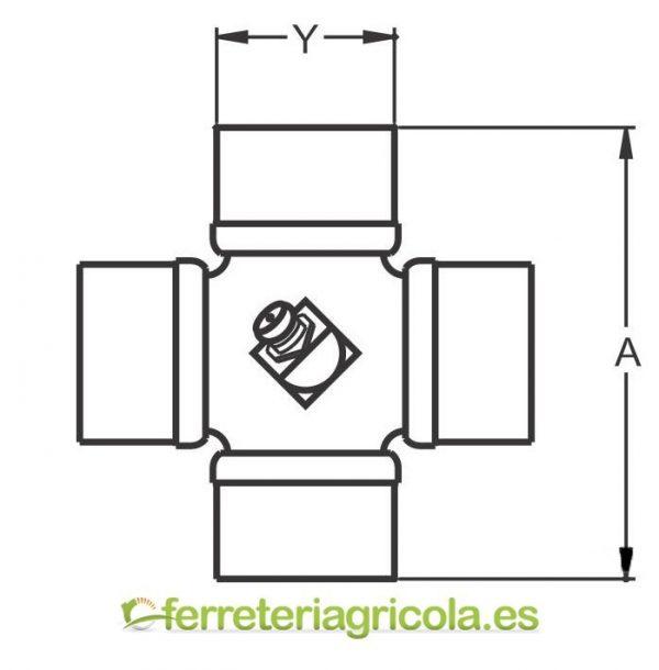 CRUCETA G5/G7 27x100 HOMOCINETICA 80º BONDIOLI&PAVESI